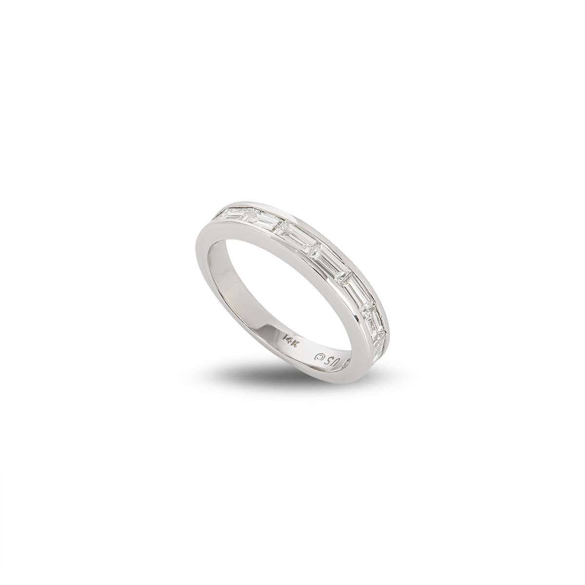 White Gold Half Eternity Diamond Ring